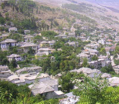 Gjirokastra, albania, city view